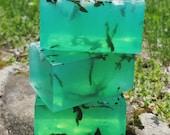Blue Lagoon Sea Salt and Seaweed Glycerin Soap