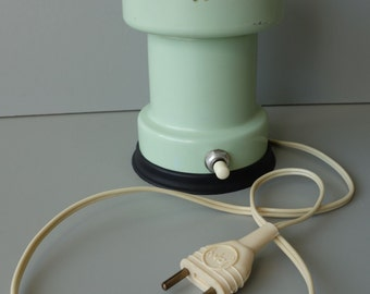 Rare Japy vintage metal electric coffee grinder French mid century modern 1960s pastel green color and model working design 1950s Mad Men