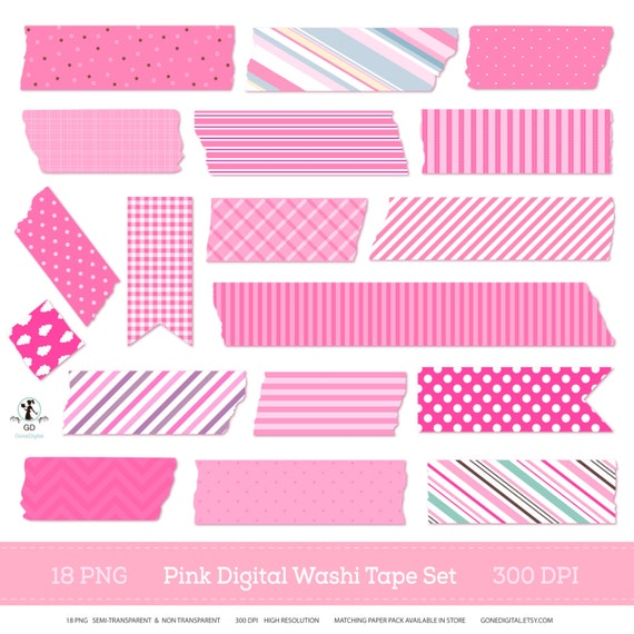 digital washi tape set pink washi strips scrapbook clipart semi rh catchmyparty com digital scrapbook clipart digital scrapbook clipart