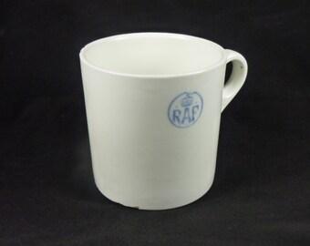 WWII 1/2 pint ironstone RAF tea mug: George Jones & Sons (Crescent) Pottery