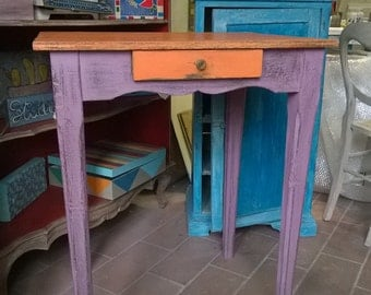 old hand painted table