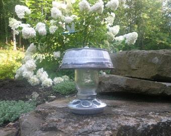 Galvanized Washtub Bird Feeder