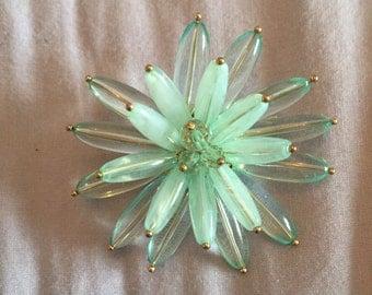 Pastel large flower brooch