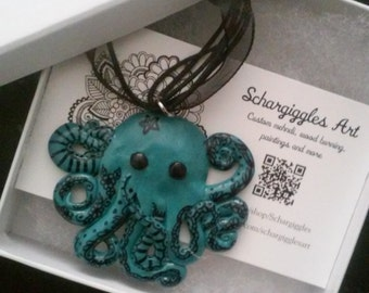 Henna Tattooed Octopus Necklace