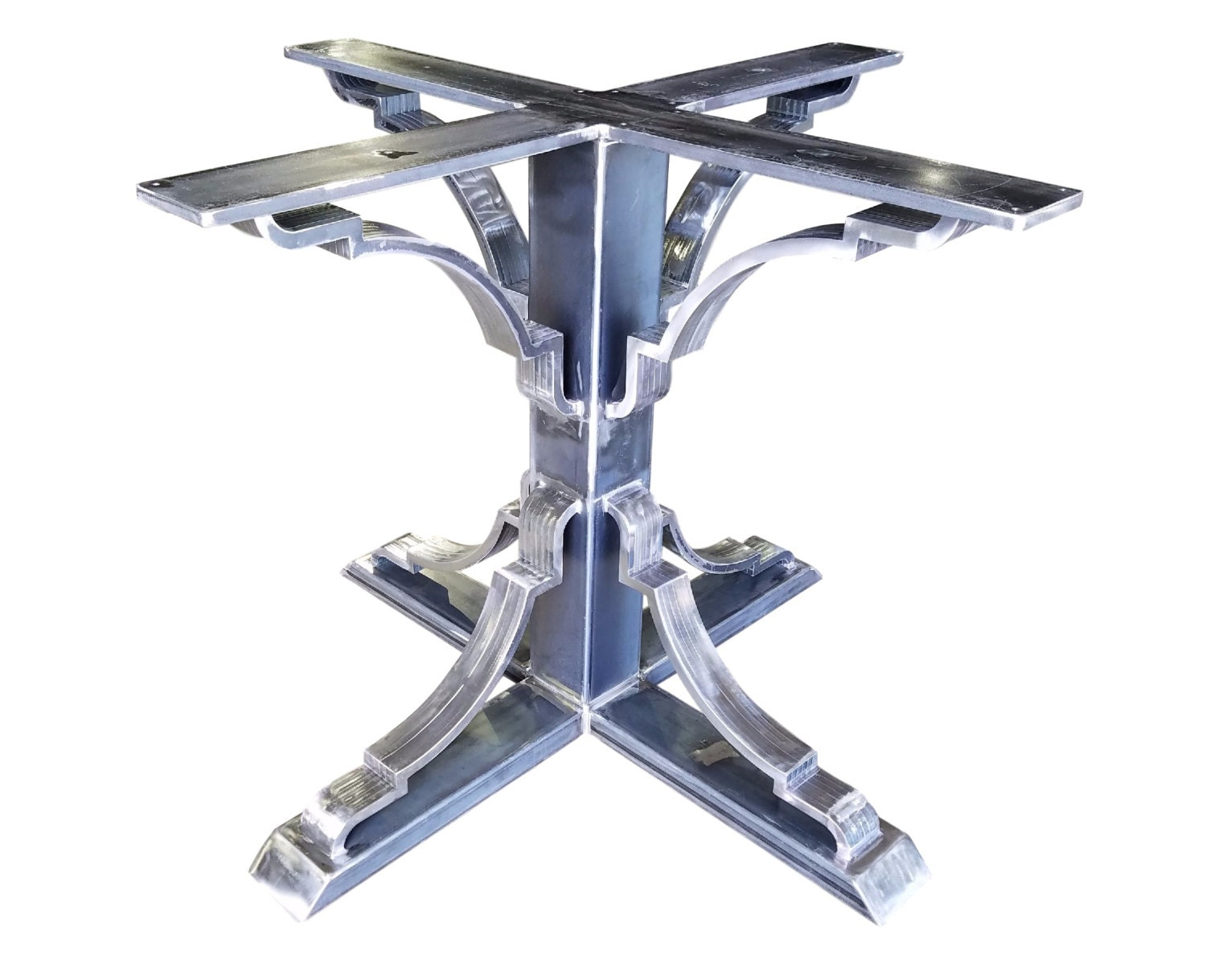 Metal table base pedestal style Metal table base