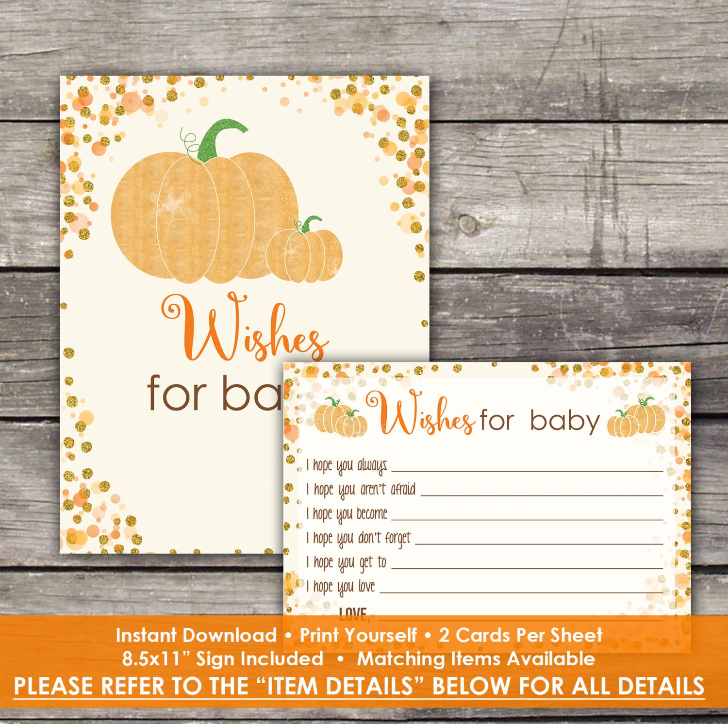 pumpkin baby shower wishes for baby cards baby wishes fall