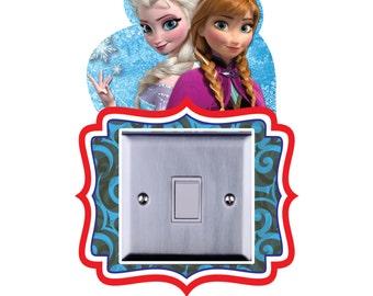 Frozen Light Switch Surround Vinyl/Sticker/Kids Bedroom Elsa, Olaf, Anna-LSW01