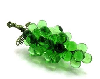 Artificial Fruit Grape Cluster in Translucent Green, Medium