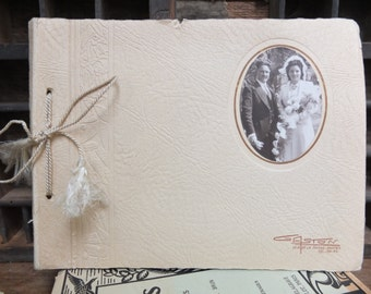 Wedding album / 12 vintage photography / Sepia / 40s