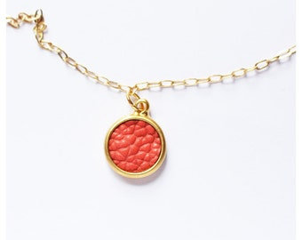 Gold Chain with Coral Pendant | Gold Necklace | Gold Chain | Coral jewellery | Pendant necklace