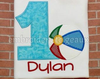 Summer Birthday Shirt, Pool Party Shirt, Pool Party Birthday Shirt, Beach Ball Birthday Shirt, Birthday Shirts, First Birthday Shirt