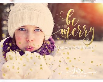 Christmas Card Template for Photographers, Photographer Christmas Template, Christmas Card Template, Glitter Overlay, Confetti overlay,  5x7
