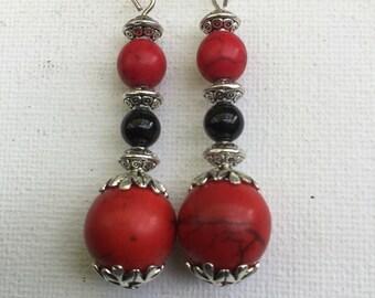Red Gemstone Earrings