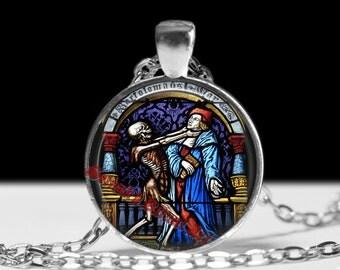 Dance of Death pendant, occult jewelry, skeletob necklace, satanic jewelry, skull accessories, memento mori jewelry #412