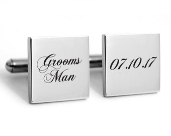 Cufflinks Stainless steel for the Groomsman, Grooms Man, Heirlom quality cuff links, Team Groom, wedding
