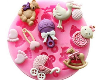 Lovely Baby Silicone Mold Fondant Cake Chocolate Decorating Candy Pastry Mould