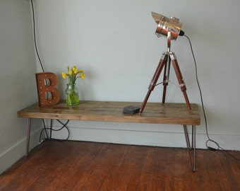Industrial Coffee Table Mid Century Modern Style