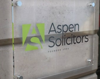 Printed Bespoke Acrylic Business Sign Plaque A3 A4