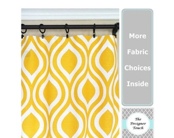 SPRING SALE Yellow Curtains.Window Curtains.Kitchen Curtains.Yellow Window Treatment.Yellow Curtain Panels.Nautical Curtains.Kids Curtains