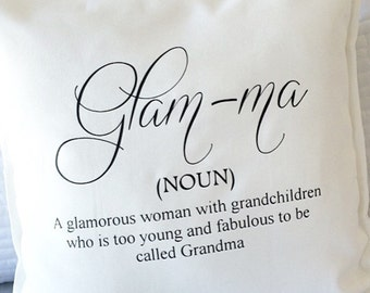 Glamma pillow cover