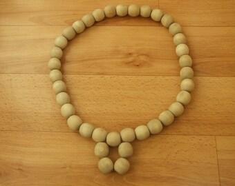 Handmade necklace 100% nature wood large size