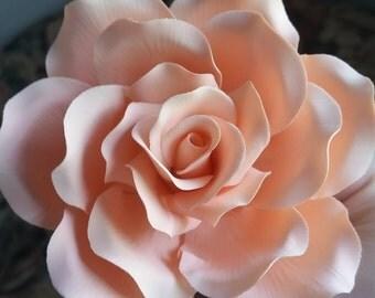 Sugar Rose Large, Gumpaste Rose, Gumpaste Flower, Sugar Flower, Cake Topper