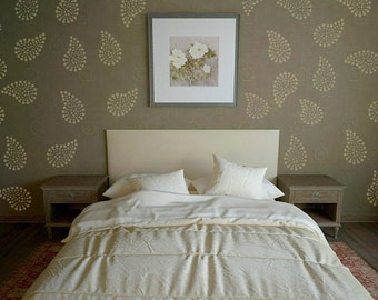 Paisley Wall Art Stencil  in reusable Mylar, wall art, small to large stencils up to 19.5 x 27.5 inches.