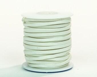 White Deerskin Lacing - (1) 50 foot spool, 1/8th inch lace.  Deerskin lace.