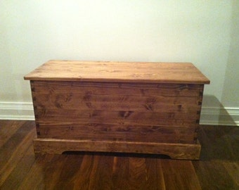 Solid Pine Blanket Chest