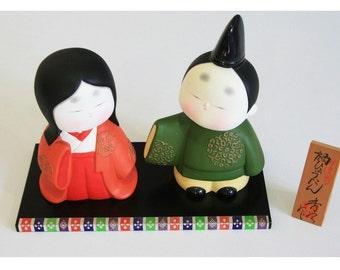 Card folded -  Item 4 Hinamatsuri dolls