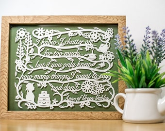 Anne of Green Gables Papercut Framed - Children's Books