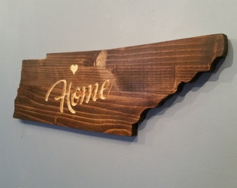 Rustic Tennessee State Sign / Plaque