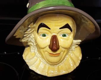Scarecrow Of The Wizard Of Oz Cookie Jar Bust By Enesco