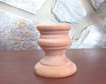 """Unfinished Candlesticks 1 7/8""""- Natural Unfinished Wood Candle Sticks Craft Supply - For Tablescapes or Cake Dividers"""