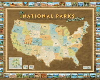 NEW! National Parks Travel Quest Poster
