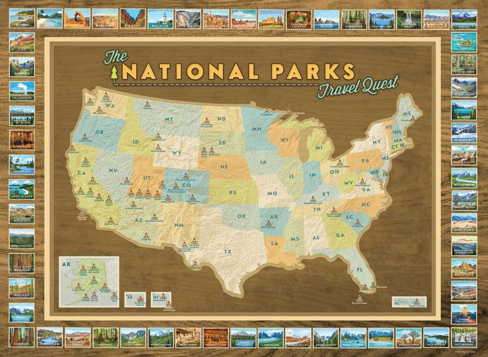 It is a photo of Resource Printable Map of National Parks