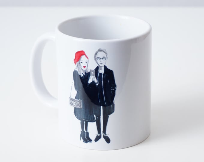 Personalised mug with custom illustration
