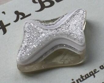 Vintage Buttons - white plastic