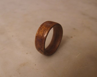 Wood Wedding Band, Mahogany Bentwood Ring, Wood Promise Ring, Wood Ring