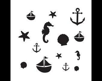 Come Sail Away - Art Stencil - Select Size - STCL1123 - by StudioR12