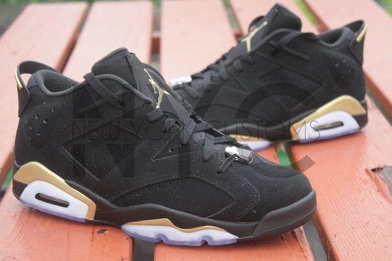 jordan 6 low black and gold