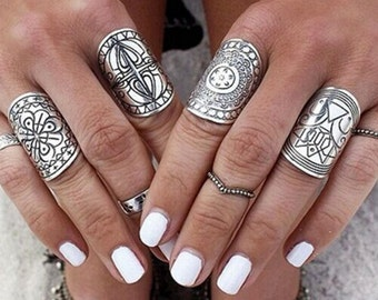 Boho Chunky Ring Set
