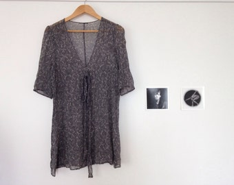 Grey Crinkle Dress M L free size
