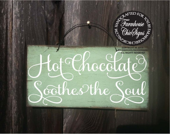 hot chocolate, hot chocolate sign, kitchen sign, kitchen decor, kitchen decoration, kitchen wall art, kitchen wall decor, kitchen signs, 208