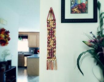 Crochet Mesh Wall Hanging - Desert Tones
