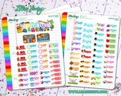 School Days Planner Stickers by Lillie Henry! Bright, fun, and functional stickers perfect for planning your life!
