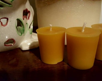 Beeswax Votives Natural Unscented 3 pk