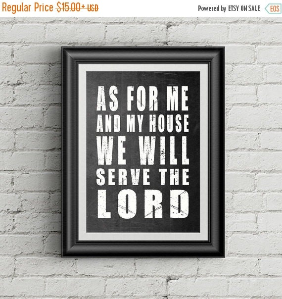 on sale christian decor as for me and my house by