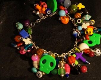 Handmade Dias De los Muertos Bracelet