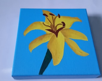 Lilly Canvas Painting